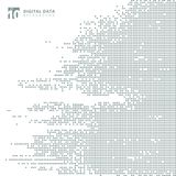 Backg cinzento do pixel do teste padrão do quadrado abstrato dos dados digitais da tecnologia
