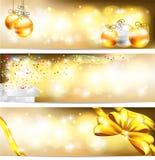 Backg d'or de bannière de célébration et d'ornement de ventes Images libres de droits