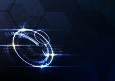 Backg inteligente futuro tecnologico do sumário da relação de sistema ilustração royalty free