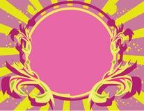 Backg jaune pourpré rose de trame Photo libre de droits