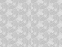 backg senza cuciture della geometria di arte del Libro Bianco 3D del modello islamico dell'incrocio illustrazione di stock