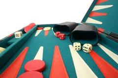 Backgammon über Weiß Lizenzfreies Stockbild