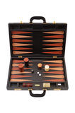 Backgammon. In a wooden case Royalty Free Stock Image