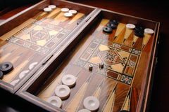 Backgammon. Middle Eastern wooden set of Backgammon Royalty Free Stock Photos