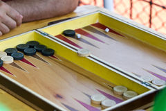 Backgammon royalty-vrije stock foto's