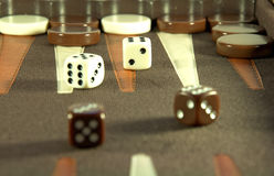 Backgammon Royalty Free Stock Photography
