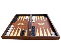 Backgammon. An old board game, played with dice royalty free stock image