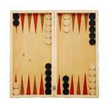 Backgammon. Game board isolated on white Royalty Free Stock Images