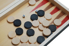Backgammon. Game board close-up Stock Image