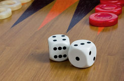 backgammon Arkivfoto