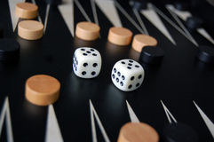 Backgammon Lizenzfreie Stockfotos