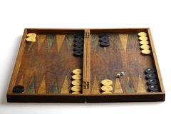 Backgammon stock afbeeldingen