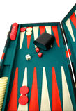Backgammon. Over white Royalty Free Stock Photo