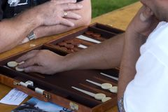Backgammon stock foto's