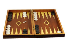 Backgammon. Game of backgammon isolated in white Stock Image