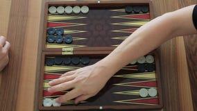 backgammon stock video footage