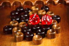 backgammon fotografie stock libere da diritti