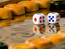Backgammon. The most fascinating board game Stock Photography