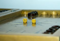 Backgammon. Board game for recreation and entertainment Royalty Free Stock Photography