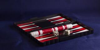 Backgammon background fabric Stock Photography