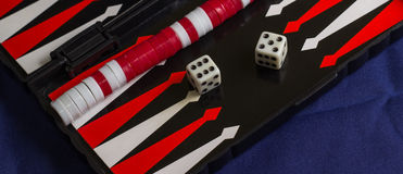 Backgammon background fabric Royalty Free Stock Photography