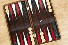 Backgammon board. Ready to start royalty free stock photo