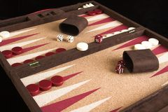 Backgammon Board. Game set Royalty Free Stock Photo