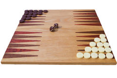 Backgammon board Royalty Free Stock Images