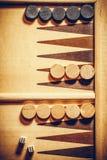 Backgammon board detail stock photo