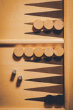 Backgammon board detail stock images