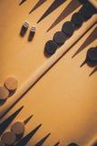 Backgammon board detail stock photography