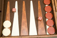 Backgammon board game Stock Image