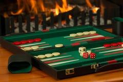 Backgammon, Board Game, Fireside Royalty Free Stock Photo