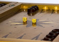 Backgammon. Board game for recreation and entertainment backgammon Stock Photo