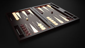 Backgammon Board. Backgammon Modern Table Game Board Royalty Free Stock Photography