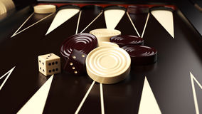 Backgammon Board Stock Images