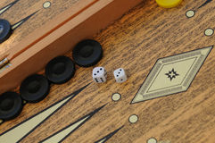 Backgammon board Stock Image