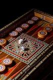 Backgammon boardgame stock afbeeldingen