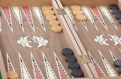 Backgammon bordlägger Arkivfoto