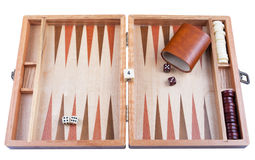 Backgammon with clipping path Stock Photo