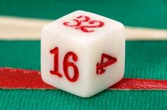 Backgammon dat kubus verdubbelt Stock Afbeelding