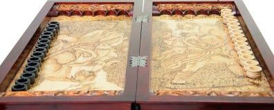 Backgammon de madera Imagen de archivo libre de regalías