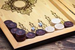 Backgammon stock photography