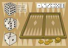 backgammon dices royalty ilustracja