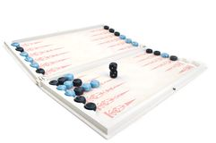 Backgammon game and dice Stock Image