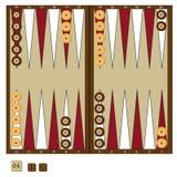 Backgammon game Stock Photography