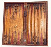 Backgammon game. Backgammon wooden tavli board game stock photography