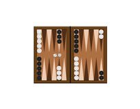 Backgammon illustration Stock Photography