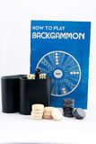 Backgammon Instructions and Game on White Background Stock Image