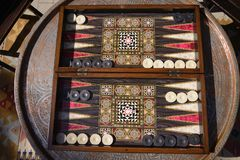 Backgammon game. Backgammon is one of the oldest games on earth and goes back at least 5,000 years royalty free stock image